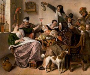 Jan Steen, 'Soo voer gesongen, soo na gepepen', c.1668-1670 - Mauritshuis
